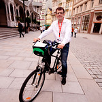 Martin Jaroš na kole v Karlových Varech
