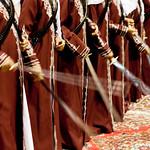 Svatba Katar šavlový tanec