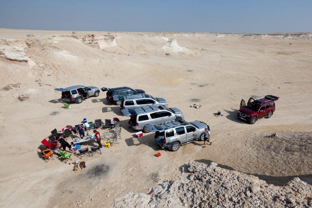 Katar, Zekreet, poušť, kempování
