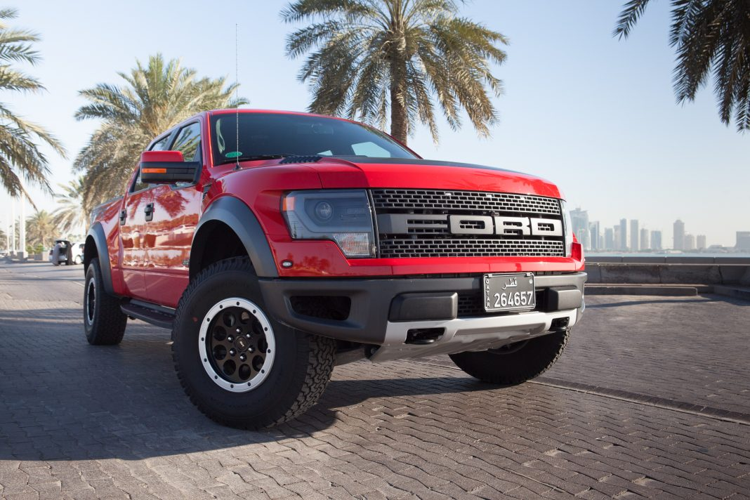 Ford F-150 Raptor red Qatar