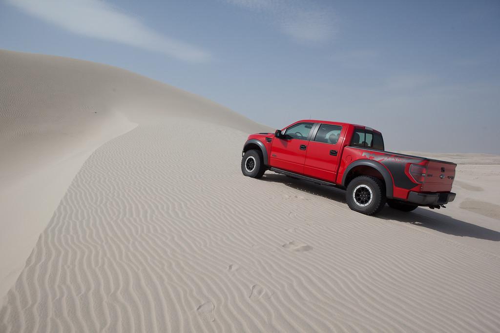 Ford Raptor, poušť