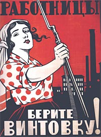 Rusko plakát žena