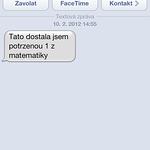 První sms