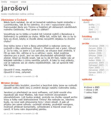 Jarosovi.cz 2005