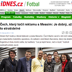 Messi iDnes Martin Jaroš